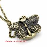 Especial de diseño reloj de bolsillo de cuarzo con cadena de acero inoxidable Fs570
