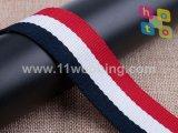 Bracelet en toile de polyester noir / blanc de 1,5 po pour sacs à main Bracelet