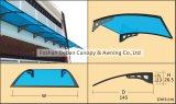 Toldo de alumínio / policarbonato para portas e janelas / pára-sol