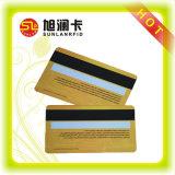 Cr80 blanc à bande magnétique de la signature de code à barres Strip Carte PVC
