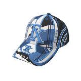 Синий колпачок с белым Embroiderey бейсбол (JRE115)