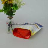 Malote de pé do bolinho plástico Ziplock de pé feito sob encomenda do saco