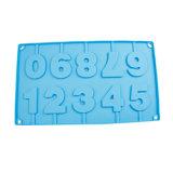 Moulage de chocolat de silicones de moulage de gâteau de silicones de forme de numéro/moulage glace de silicones