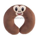 普及した感情はおもちゃによって詰められるプラシ天のEmojiの首の枕か旅行枕をからかう