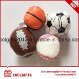 2.5インチ6.3cm PVC革によって詰められるごまかす球、PUの柔らかい綿球