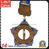 ダイカストの旧式な金の銀の銅によってめっきされる回転メダルを