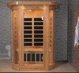 Sauna infravermelha de madeira maciça com tamanho personalizado (AT-0928)