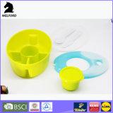 Casella di pranzo variopinta del recipiente di plastica del pacchetto di ghiaccio