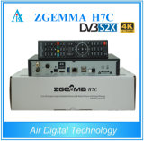 Novo Zgemma 4k Uhd Satellite Receiver Zgemma H7c com Bcm7251s DVB-S2X + 2 * DVB-T2 / C Três Sintonizadores Hevc Box