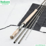 12ft 4PC 4/5 wt carbono alto módulo Lite Spey Fly Fishing Rod