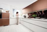 熱い販売の木製の台所家具の高く光沢のある白いモジュラー食器棚