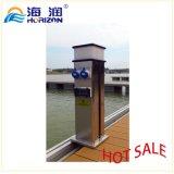 Dispositivo de pedestal de energia da água para dique flutuante / Marina