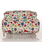 Sac d'emballage floral de configurations de PVC de toile blanche imperméable à l'eau de tirette (23258)