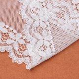 Cor branca e bordada, Tecido de malha Vestido fazendo tecido de renda