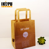 Saco de compra feito sob encomenda do papel de embalagem de Brown Com o saco do presente da cópia do logotipo