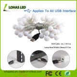 USB Fairy Starry Light 5V 16FT / 5m 2.5W 80lm 40 LED Globes Warm White LED String Light para Decoração