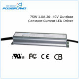 75W 1.8A 20~40V IP67 al aire libre del controlador de LED de corriente constante