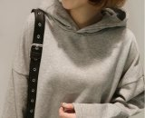 느슨한 형식 두건이 있는 스웨터 여성 복장의 도매 하나