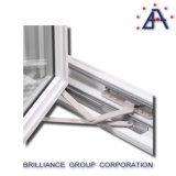 Australien-Standardaluminiumrahmen-lagerte vertikales Ausstellfenster-Doppeltes Glas/Vertical Fenster schwenkbar