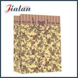 Modificar las bolsas de papel impresas insignia del OEM para requisitos particulares Brown del diseño