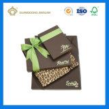 Boîte en carton de luxe de empaquetage de chocolat de cadre avec le couvercle (avec la pièce jointe de bande)