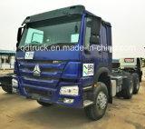 中国HOWOの頑丈なダンプトラックの貨物はトラクターのトラックをトラックで運ぶ