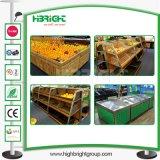Деревянные супермаркет гипермаркет фрукты и овощи дисплей для установки в стойку