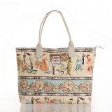 Retro Muster imprägniern Belüftung-Segeltuch-Dame Handbag (23238)