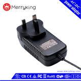 BRITISCHE EU vermarkten 24V 1.5A Wechselstrom-Spannungs-Adapter