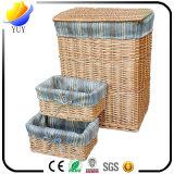 Alta qualità che lavora a mano cestino di vimini e la casella di memoria con la fabbrica dalla Cina