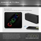 Kodi Smart TV haut de la qualité de l'Octa Caidao PRO Core Android 7.0 Ott TV Box 2g 16g Amlogic S912 Tvbox Android 7.0 Smart