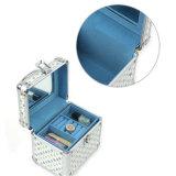 Schmucksache-Kasten-Kasten der Alphabet-Freizeit-Aluminium+PVC mit Spiegel