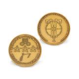 Commerce de gros de haute qualité laiton antique Coin d'un insigne de la conception de collecte de souvenirs