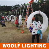 옥외 방수 결혼식 테마 파크 플라스틱 LED에 의하여 분명히되는 그네