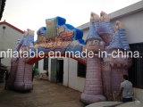 Personalizzato facendo pubblicità ai capretti che giocano l'arco gonfiabile del castello della sosta