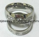 Joyería del cuerpo del anillo del acero inoxidable de la CZ (CZR2523)