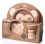 Eco Friendly Bamboo Fiber Ensemble de vaisselle pour enfants