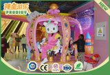 Portátil colorido Kiddie Crown Carousel Viagem de diversões com 6 lugares