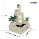 Escultura em arenito Decorações quadradas Fonte de resina de água