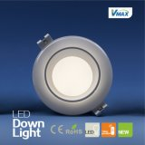 Temperatura alta potencia de 15W houseing Lámpara tricolor LED Regulable Downlight