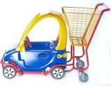 Het Winkelen van de Supermarkt van jonge geitjes de Kar van het Karretje