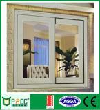 Aluminiumprofil-Doppelverglasung-schiebendes Fenster mit ausgeglichenem Glas