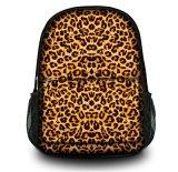 Mochila con estampado de leopardo chica bolsa de mano bolsa de ordenador portátil para viajar escuela