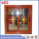 Fenêtre en verre coulissante à deux côtés