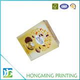 Caja de papel corrugado reciclado en color