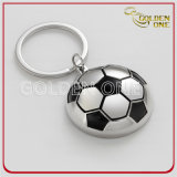 Forma retangular personalizada Soft Enamel Metal & Leather Key Chain