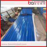 Hoja de acero acanalada galvanizada para el material para techos