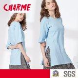 Mesdames fashion Côté loisirs Split T-Shirt chemisier ordinaire