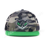 Tampão liso de Fiftted Camo da borda do Snapback dos miúdos