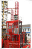 Строительный подъемник клетки Gaoli Sc100/100 двойной с механизмом реечной передачи